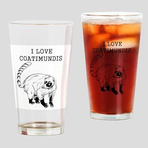 I Love Coatimundis Drinking Glass