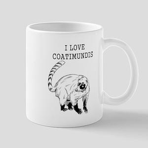 I Love Coatimundis Mugs