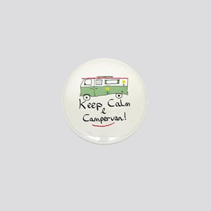 Keep Calm Campervan Mini Button