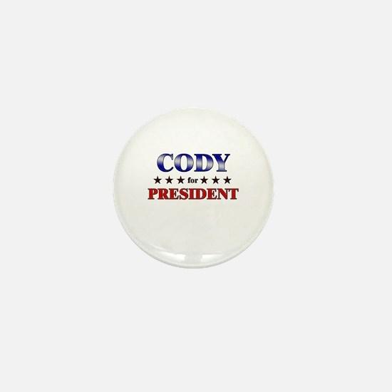 CODY for president Mini Button