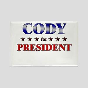 CODY for president Rectangle Magnet