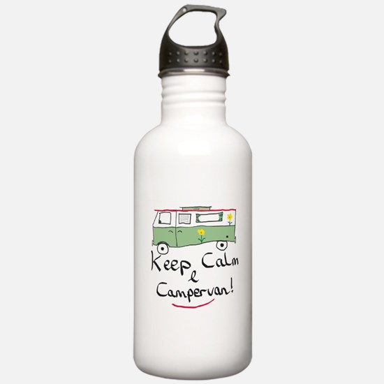 Keep Calm Campervan Water Bottle