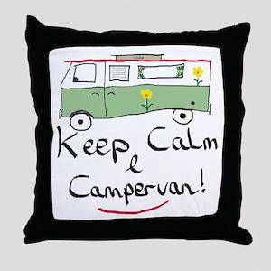 Keep Calm Campervan Throw Pillow