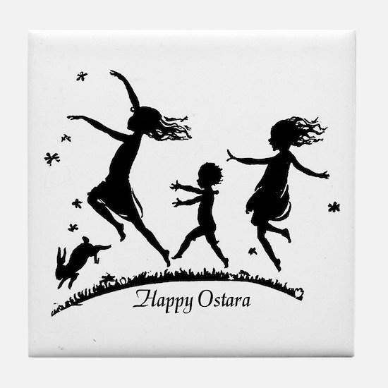 Happy Ostara Dance Tile Coaster