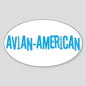 Avian American Oval Sticker