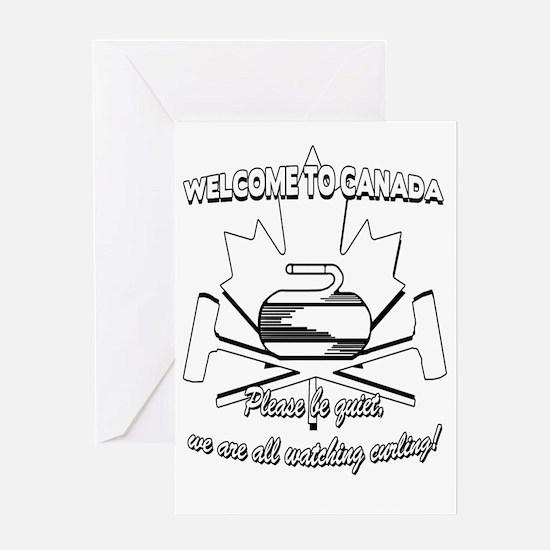 Cute Curling for men Greeting Card