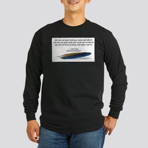 Mark Twain's parrot quote Long Sleeve T-Shirt