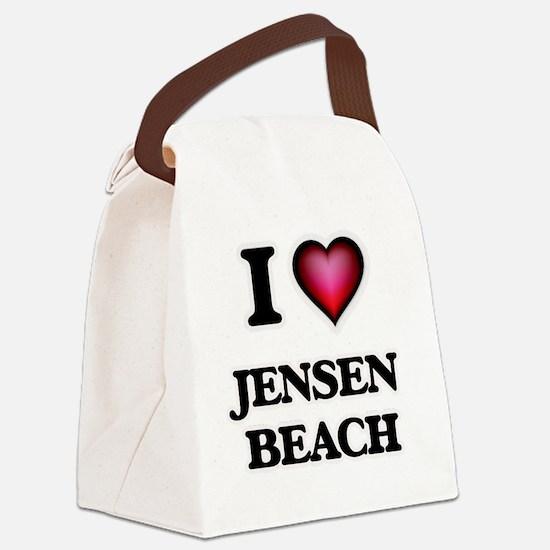 I love Jensen Beach Florida Canvas Lunch Bag
