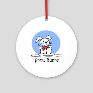 Snow Bunny Ornament (Round)