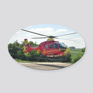 AIR AMBULANCE RESCUE Oval Car Magnet