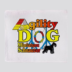 Mini Schnauzer Agility Throw Blanket