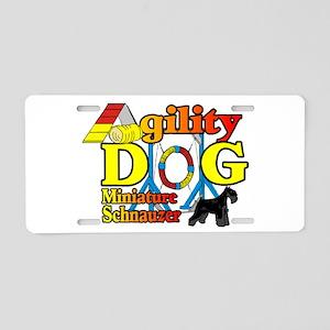 Mini Schnauzer Agility Aluminum License Plate