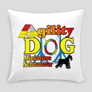 Mini Schnauzer Agility Everyday Pillow