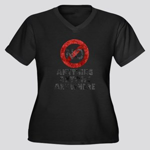 No Anything Anytime Anywhere Plus Size T-Shirt