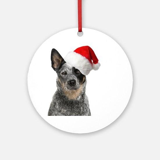 Santa Aussie Round Ornament