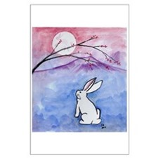 Moon Bunny Posters