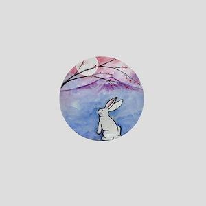 Moon Bunny Mini Button