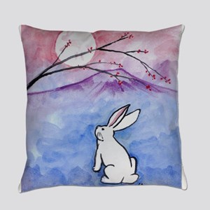 Moon Bunny Everyday Pillow