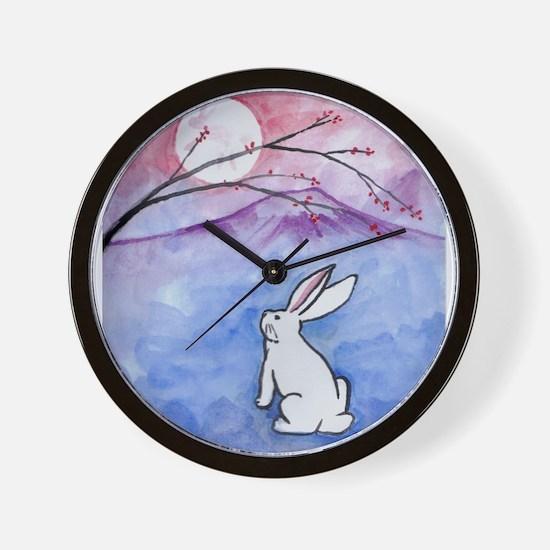 Moon Bunny Wall Clock