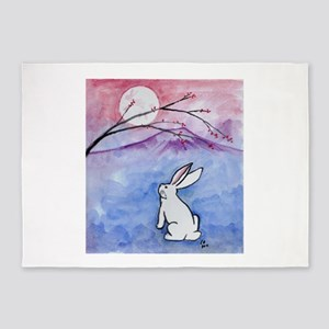 Moon Bunny 5'x7'Area Rug