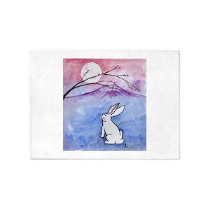 Rabbit Area Rugs Cafepress