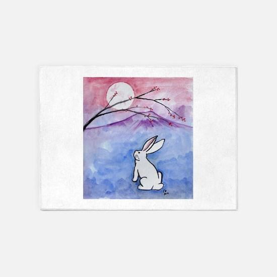 Moon Bunny 5'x7'Area Rug