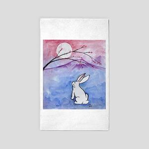 Moon Bunny Area Rug