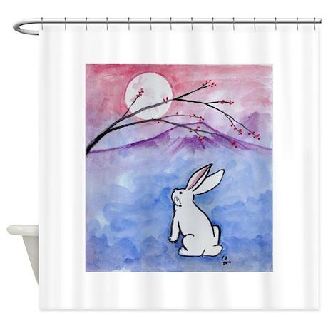 Moon Bunny Shower Curtain By DarkRubyMoon