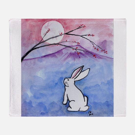Moon Bunny Throw Blanket