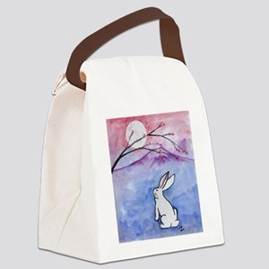 Moon Bunny Canvas Lunch Bag