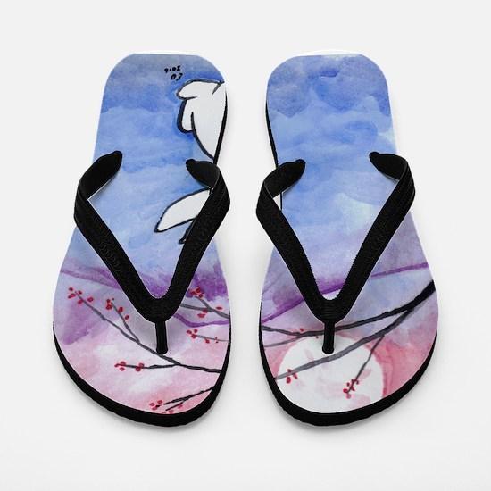Moon Bunny Flip Flops