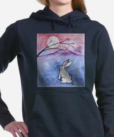 Moon Bunny Women's Hooded Sweatshirt