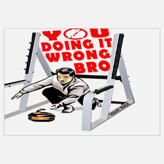 Funny Curling for men Wall Art