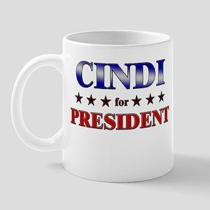 CINDI for president Mug