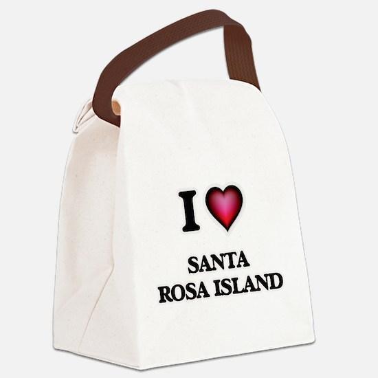 I love Santa Rosa Island Florida Canvas Lunch Bag