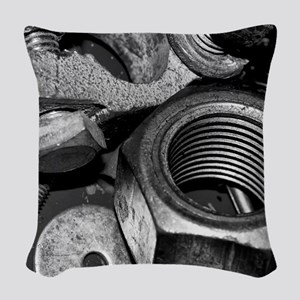Nuts And Bolts Woven Throw Pillow