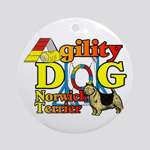 Norwich Terrier Agility Round Ornament