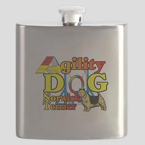 Norwich Terrier Agility Flask