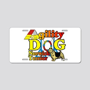 Norwich Terrier Agility Aluminum License Plate