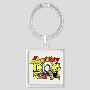 Norwich Terrier Agility Square Keychain