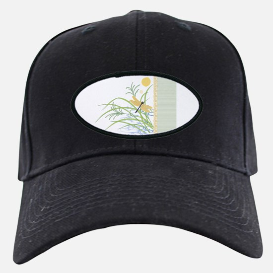Dragonfly in Rice Field Baseball Hat