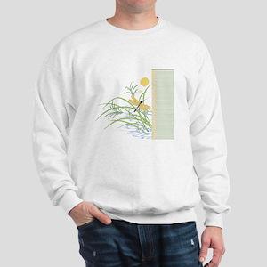 Dragonfly in Rice Field Sweatshirt