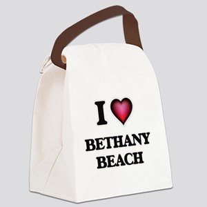 I love Bethany Beach Delaware Canvas Lunch Bag