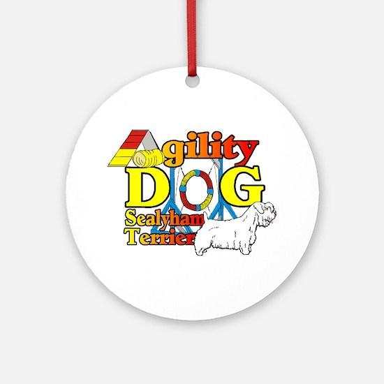 Sealyham Agility Round Ornament