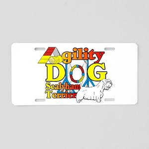 Sealyham Agility Aluminum License Plate
