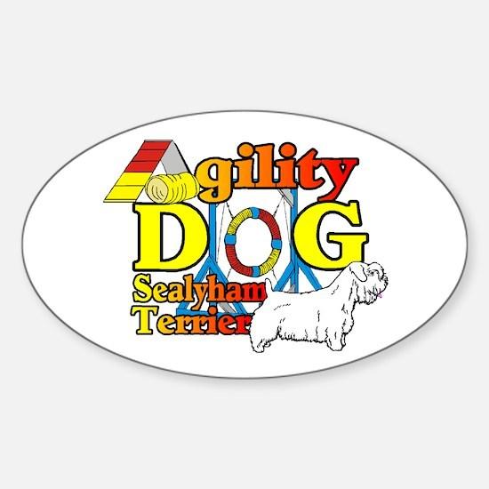 Sealyham Agility Sticker (Oval 10 pk)