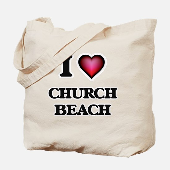 I love Church Beach Michigan Tote Bag