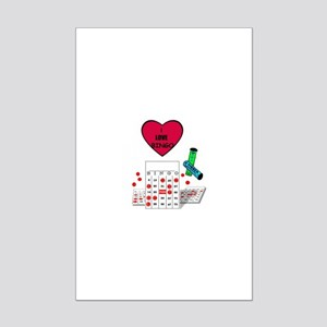 BINGO ADDICT Mini Poster Print