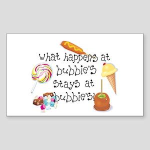 What Happens at Bubbie's... Rectangle Sticker