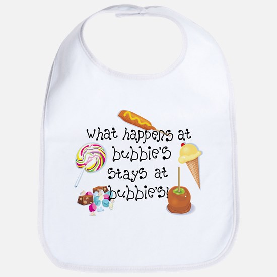 What Happens at Bubbie's... Funny Baby Bib
